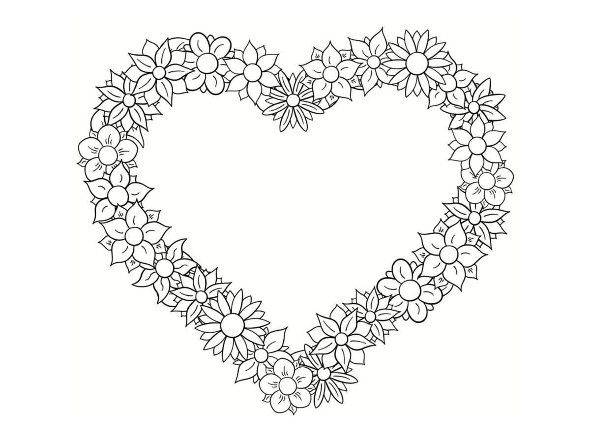 Coloriage saint valentin 40 dessins imprimer gratuitement - Image de coeur a colorier ...