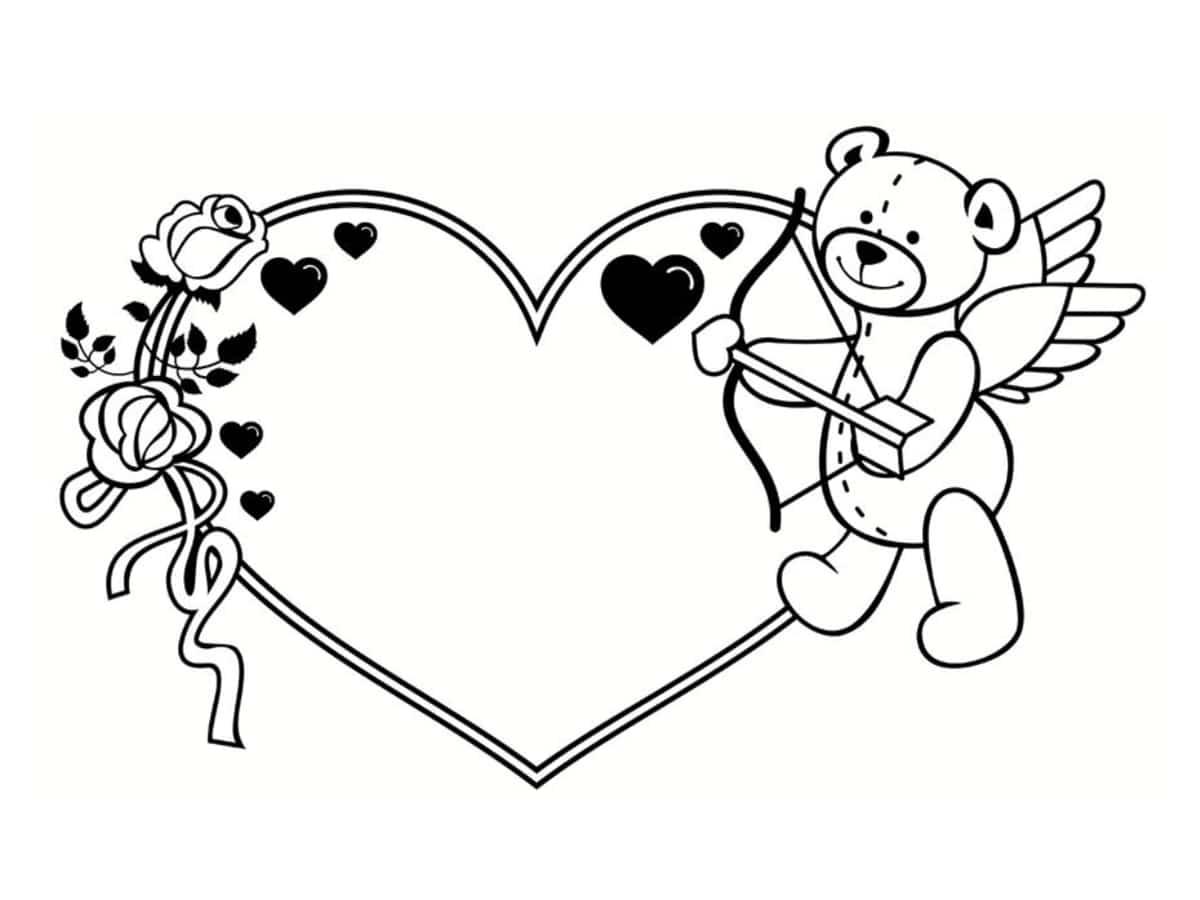 Coloriage saint valentin 40 dessins imprimer gratuitement - Image st valentin a telecharger gratuitement ...
