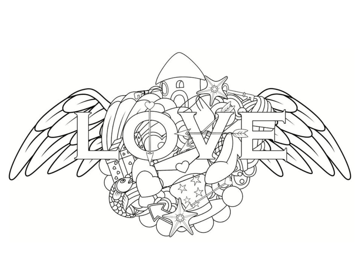 love coloriage