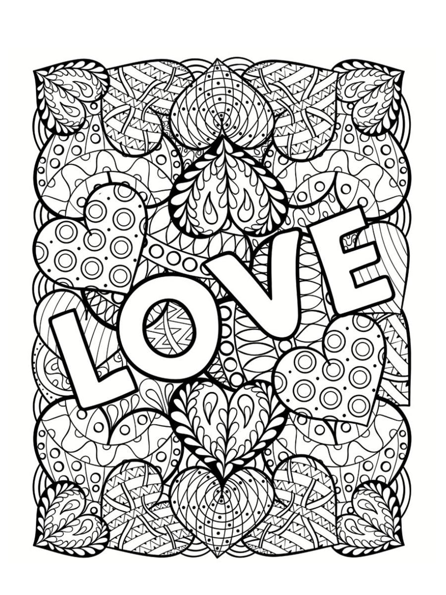 Coloriage saint valentin 40 dessins imprimer gratuitement - Dessin imprimer ...
