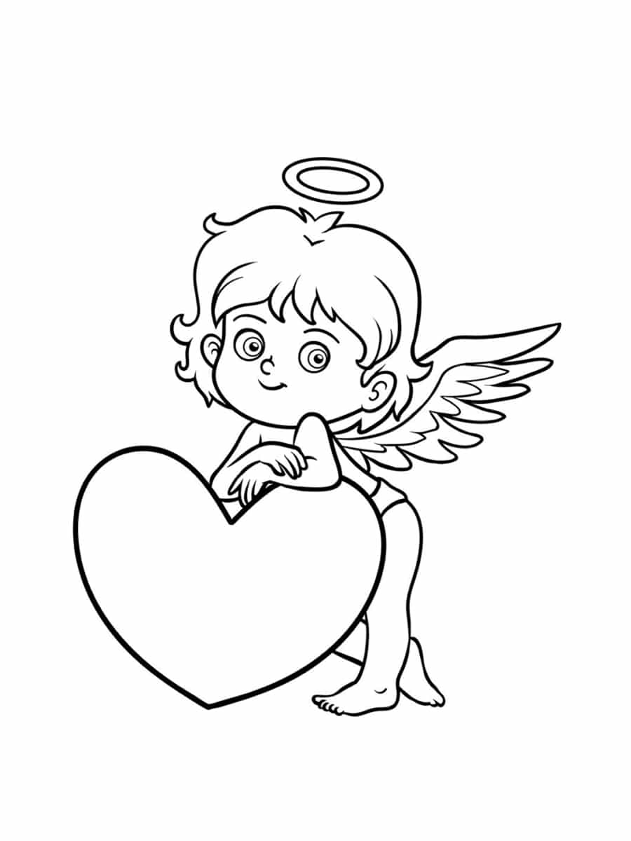 ange amour coloriage