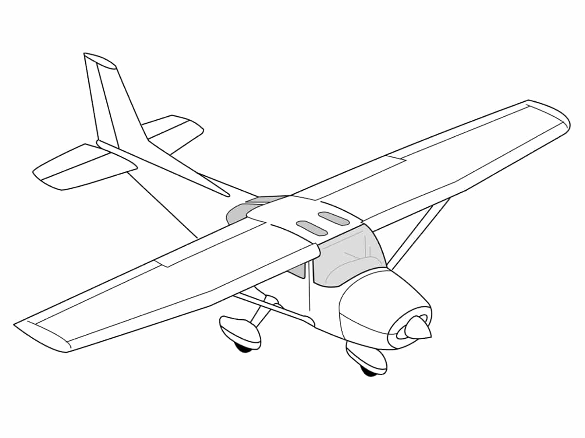 Coloriages avions - Dessins avions ...