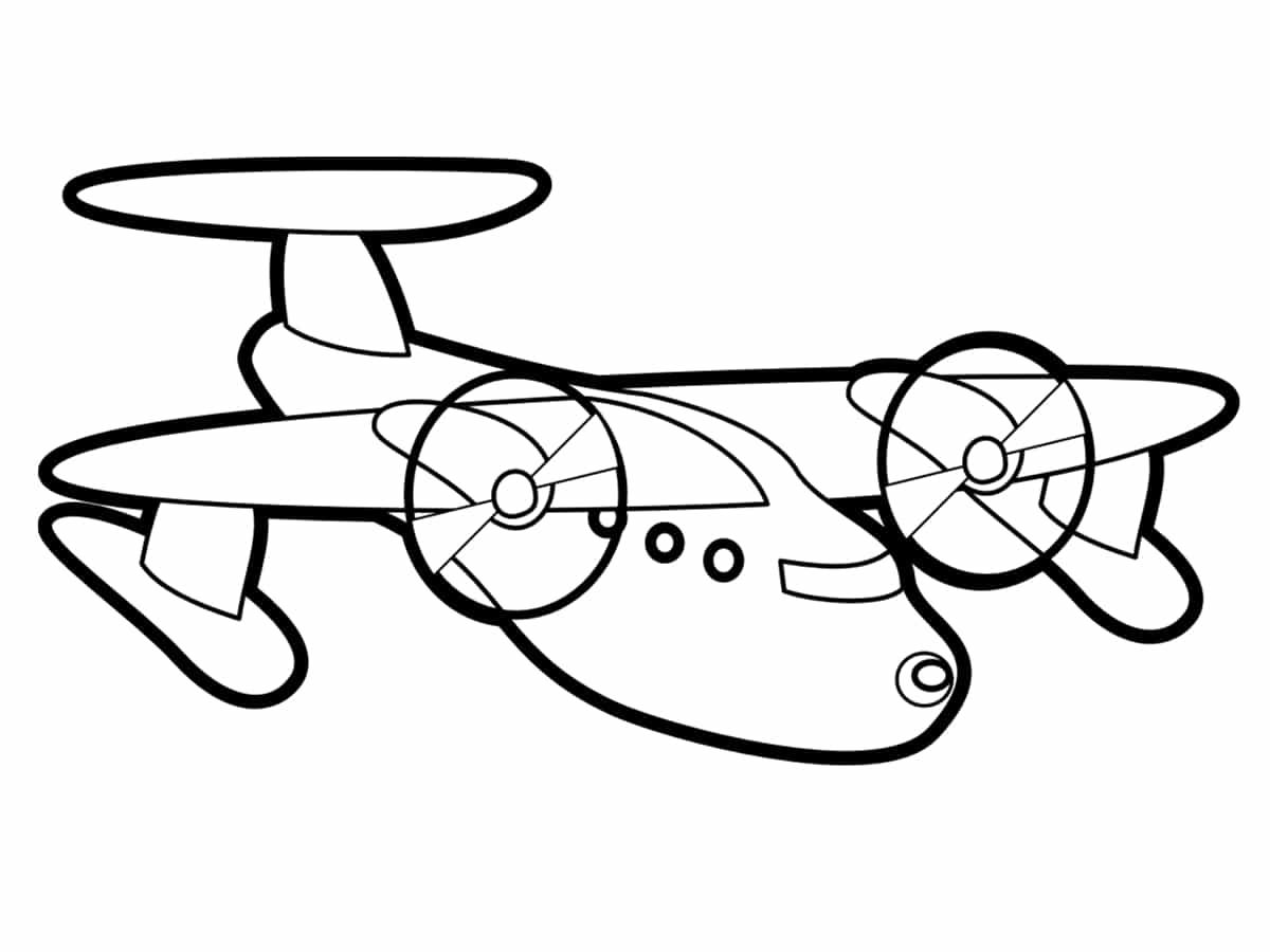 Coloriage avion : une quarantaine de dessins à imprimer gratuitement