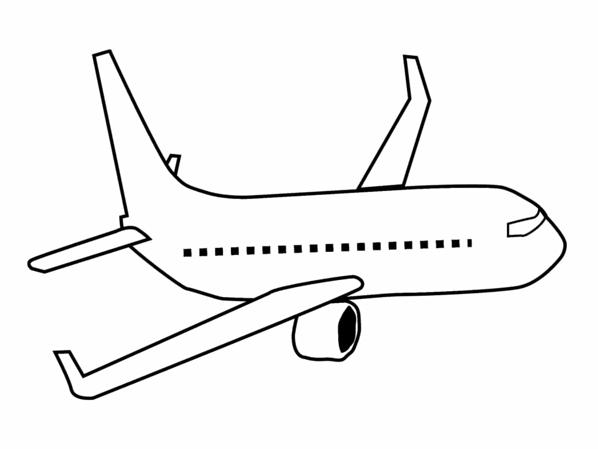 Coloriage avion une quarantaine de dessins imprimer gratuitement - Dessin d avion facile ...