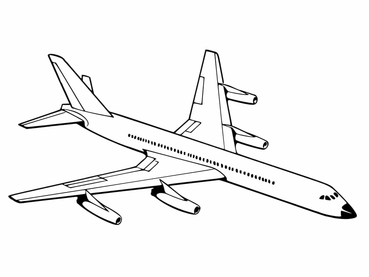 Coloriage avion une quarantaine de dessins imprimer gratuitement - Dessin avion stylise ...