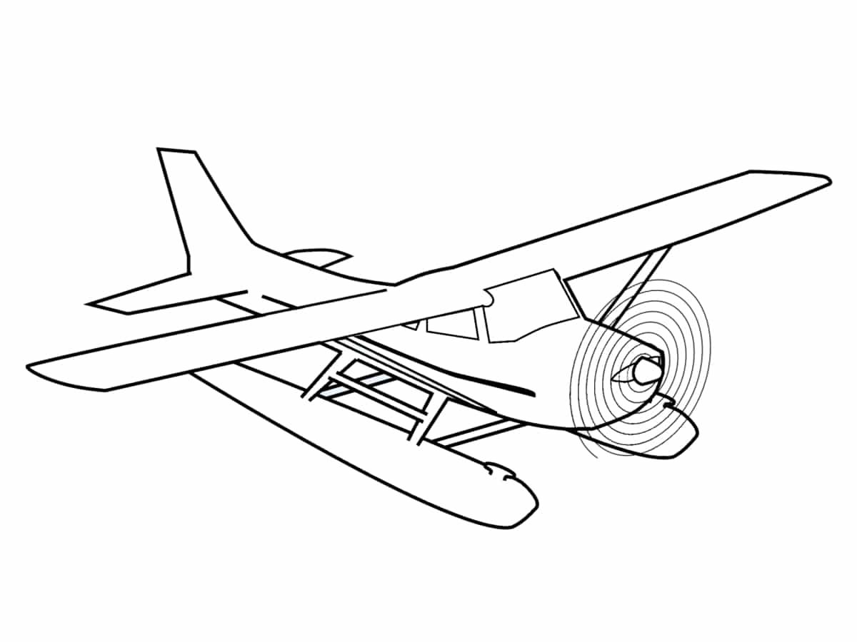 Coloriage avion : une quarantaine de dessins à imprimer ...