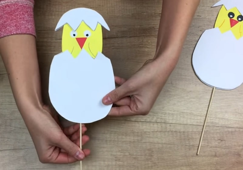 Bricolage œuf de Pâques en papier
