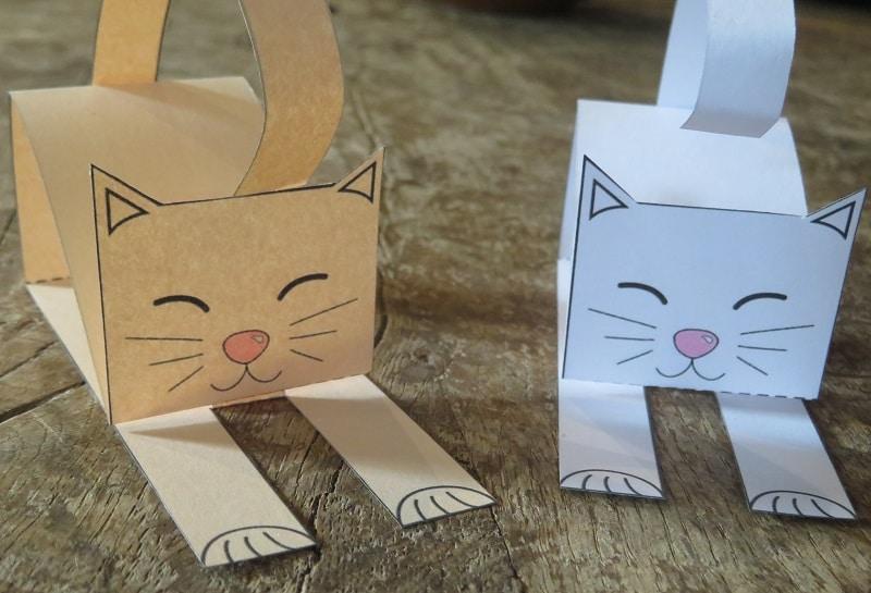 chat en papier adorable