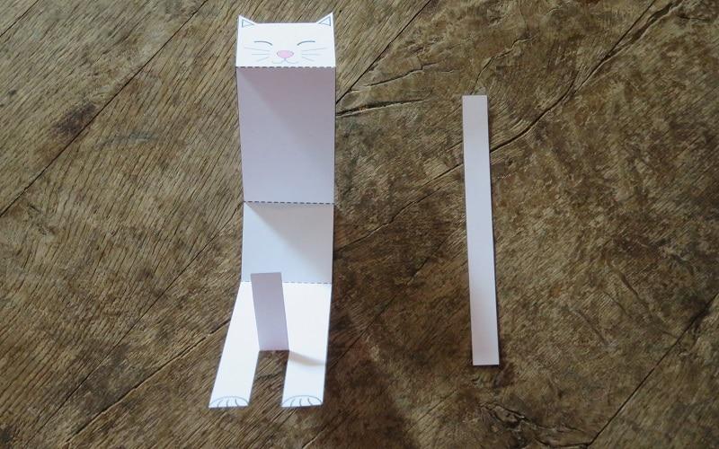 comment faire un chat papier