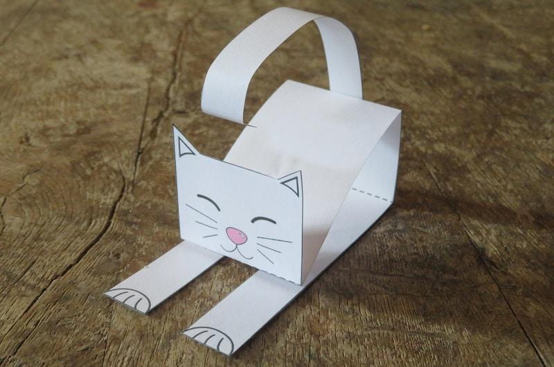 comment faire un chat en papier facile