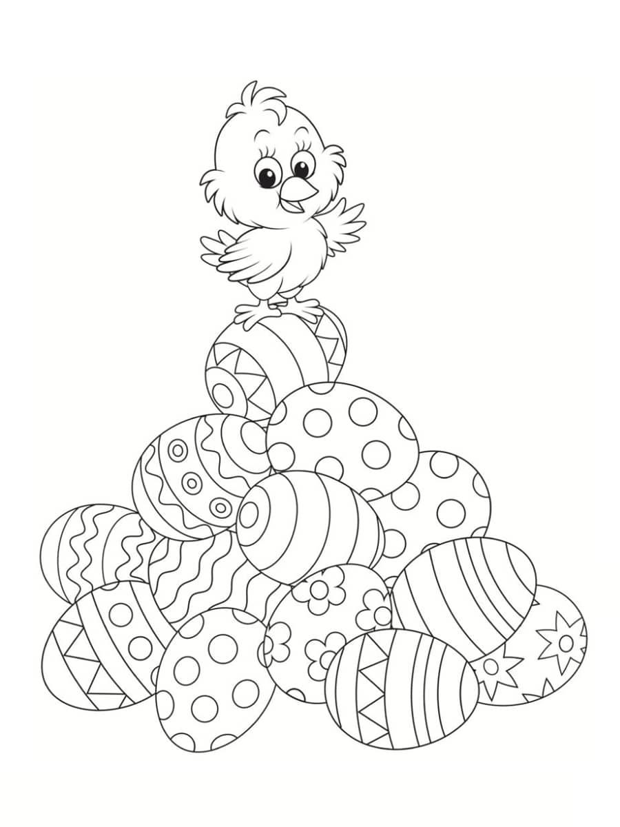 Coloriage poussin : 30 dessins à imprimer gratuitement