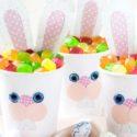 Gobelet de Pâques : un lapin de Pâques facile et adorable