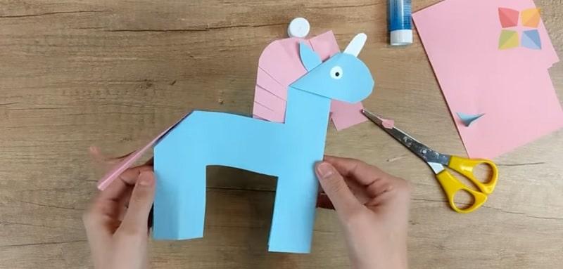 comment faire une licorne en papier facile