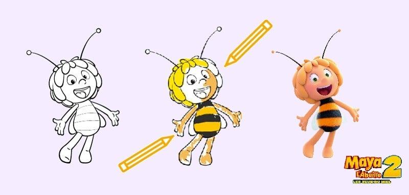 Coloriages Et Activités Maya L Abeille