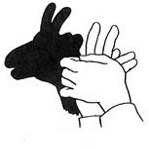 ombre chinoise facile avec les mains