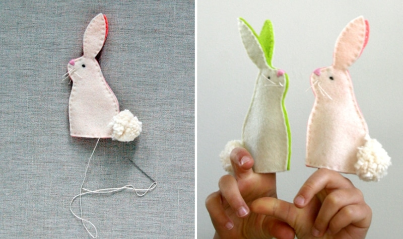 fanriquer une marionnette à doigt lapin