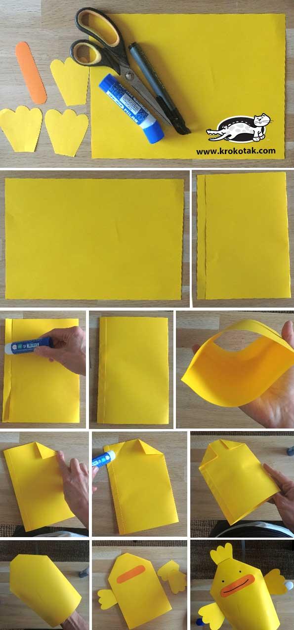 marionnette en papier facile