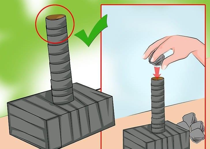 fabriquer marteau de thor en carton
