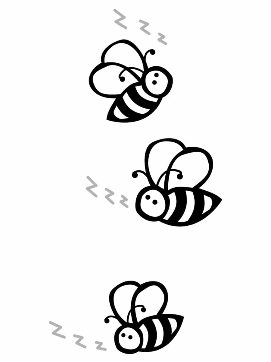 abeilles noir et blanc