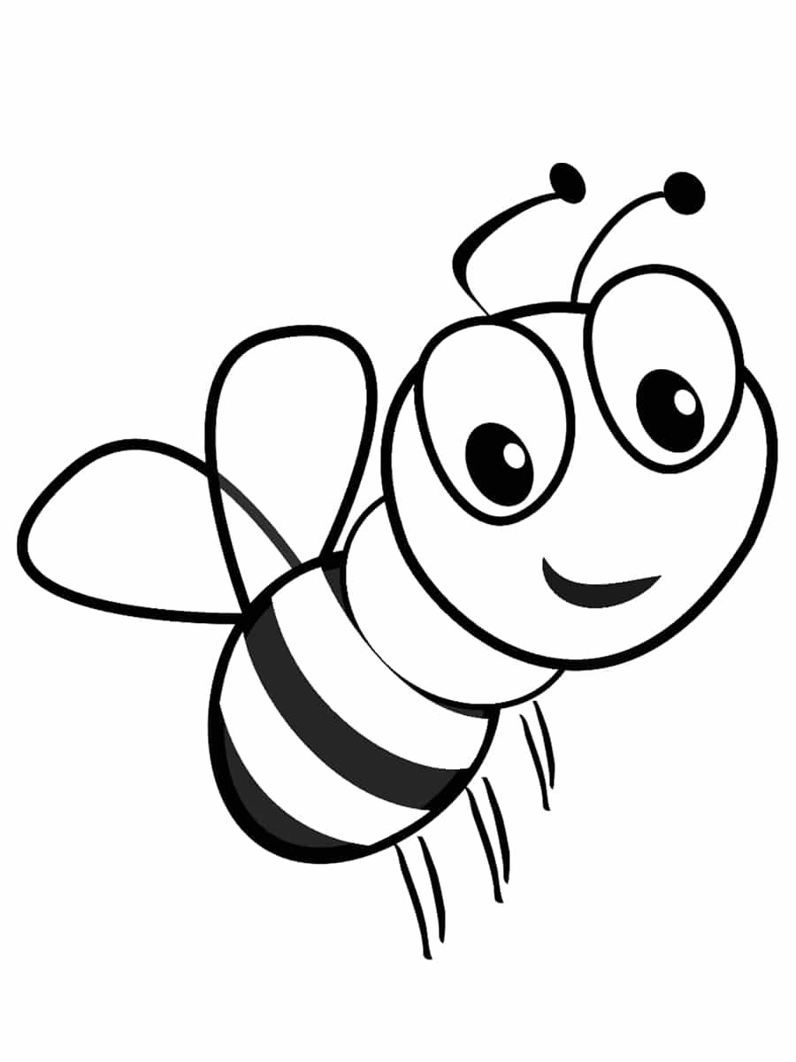 abeille à colorier