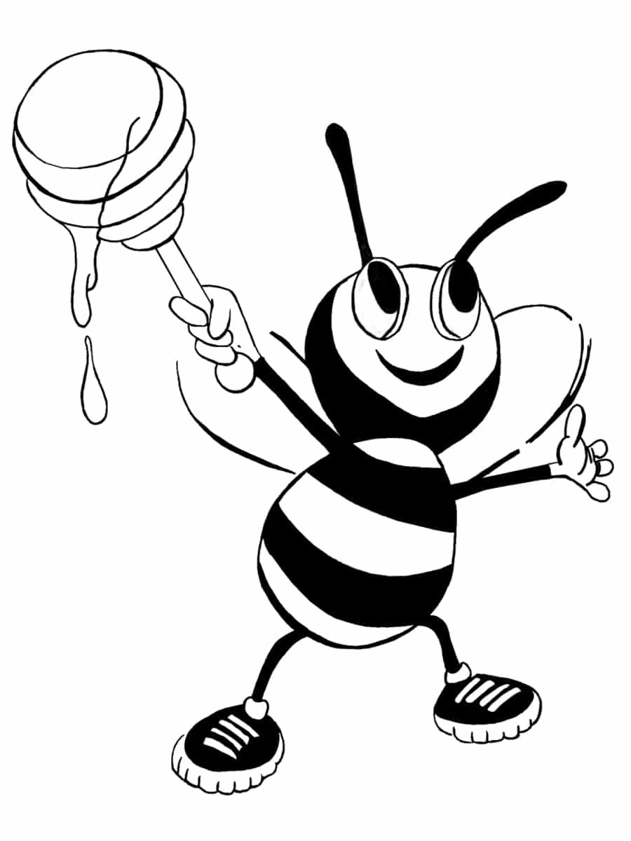 une abeille mignonne