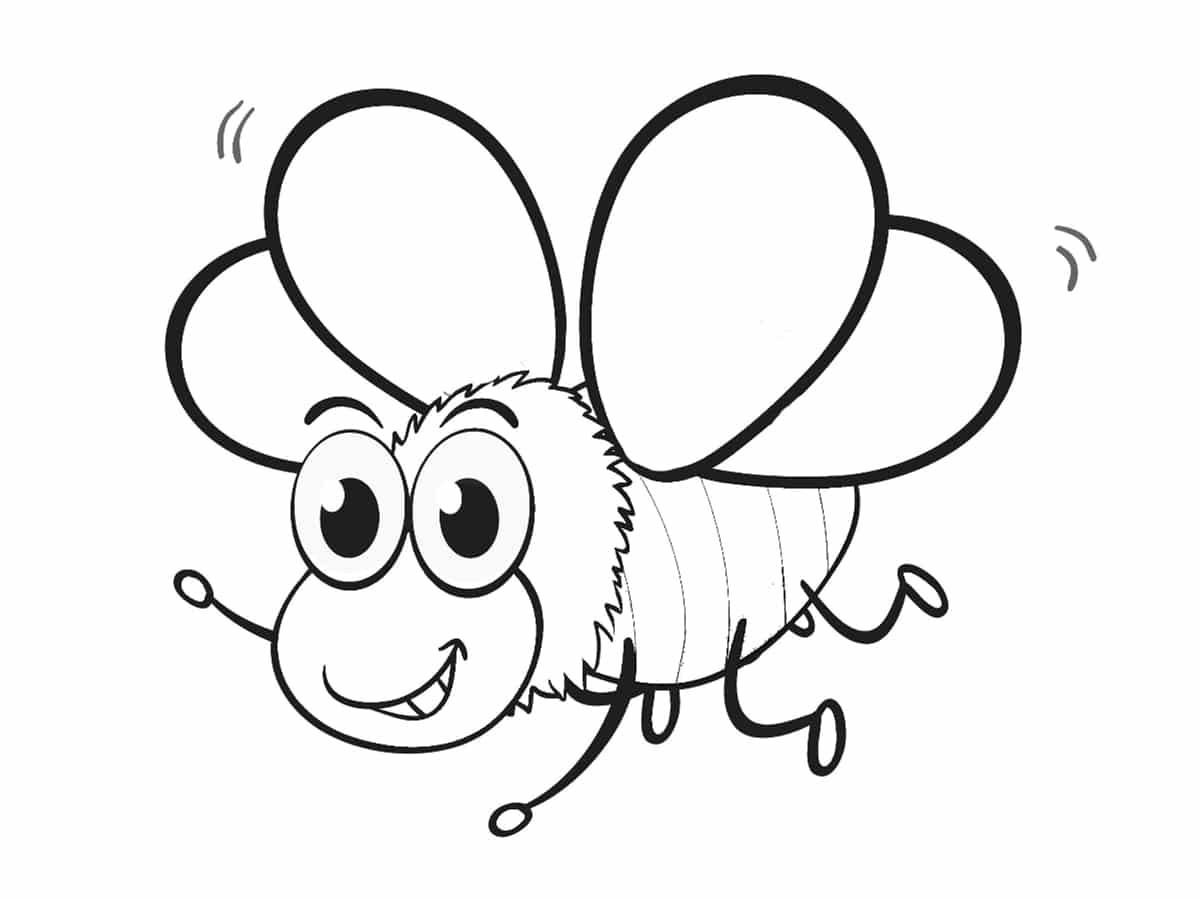 abeille coloriage