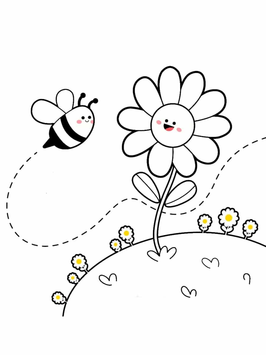 colorier une abeille