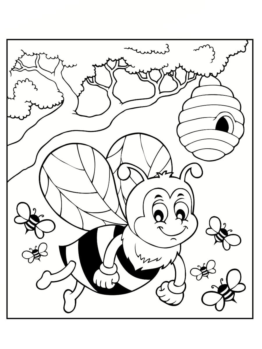 abeilles dessin