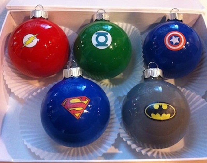 boules noel super-heros