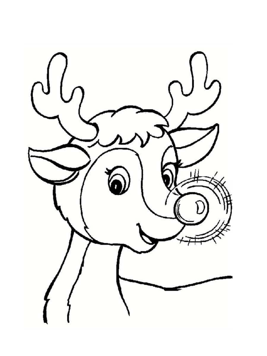 coloriage rudolph le renne