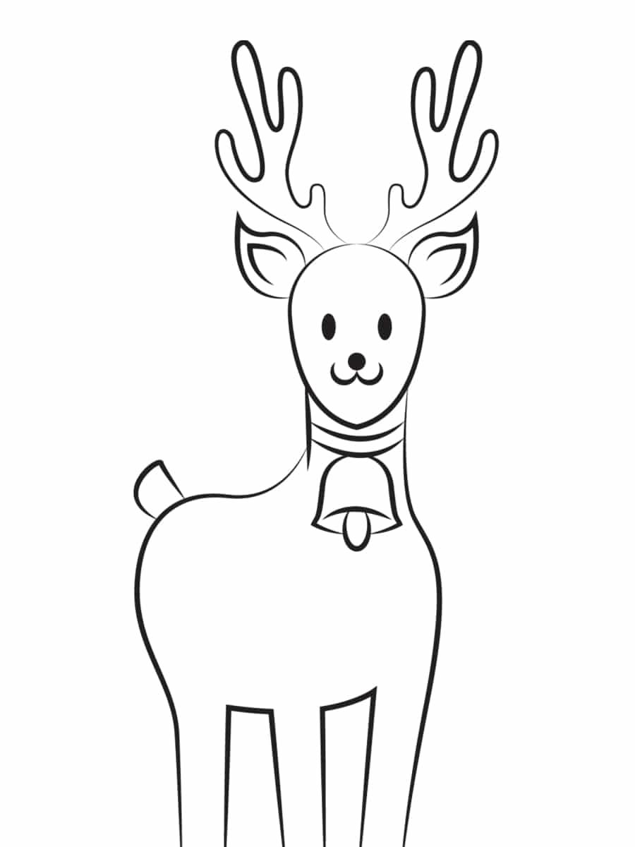 dessin de renne de noel