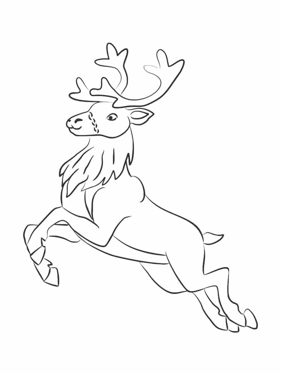 dessin renne de noel