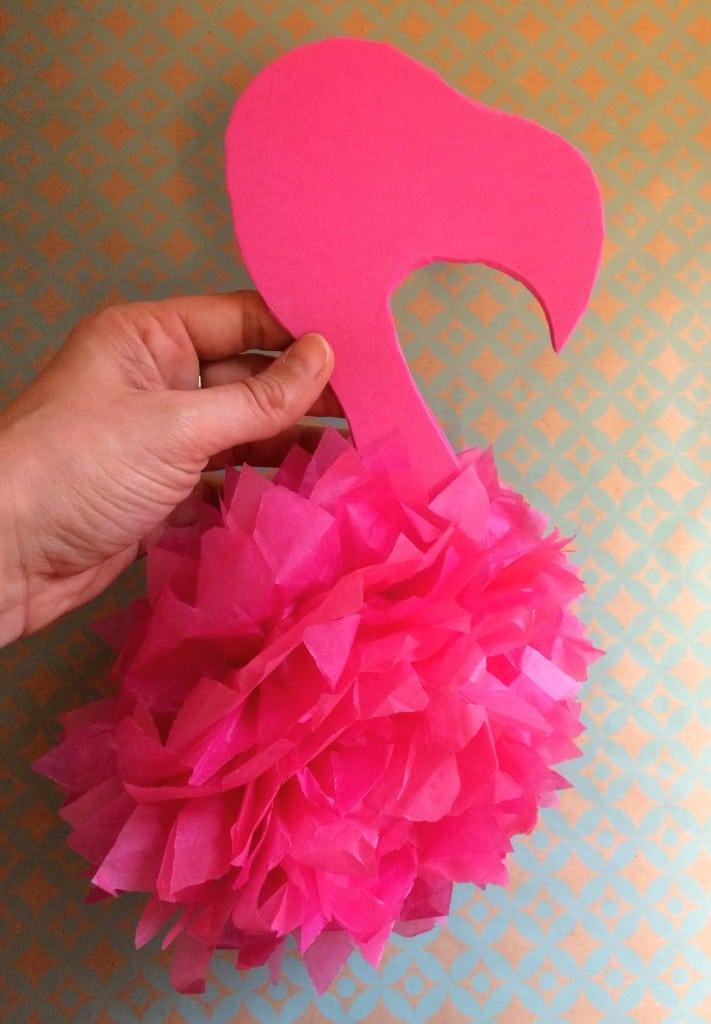 activité manuelle flamant rose