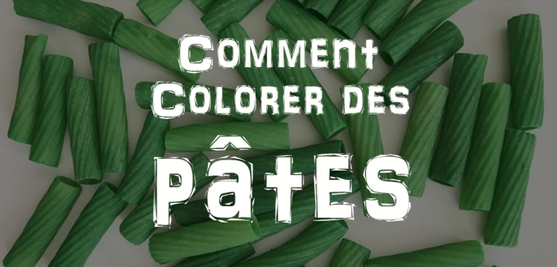 comment colorer des pates crues