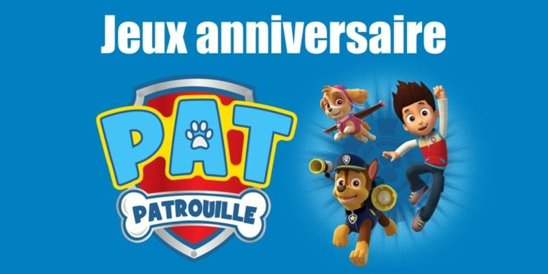 Jeux anniversaire Pat Patrouille