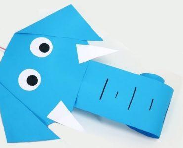 éléphant en papier facile