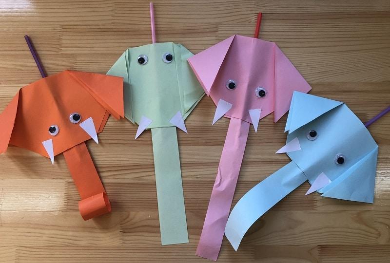 éléphants en papier