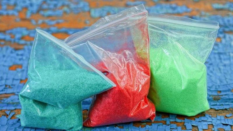 faire du sable coloré