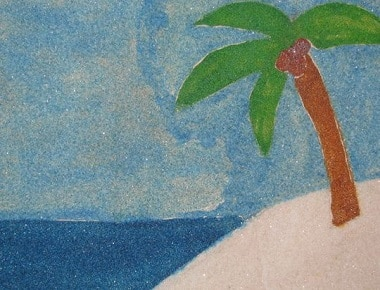 tableau de sable coloré