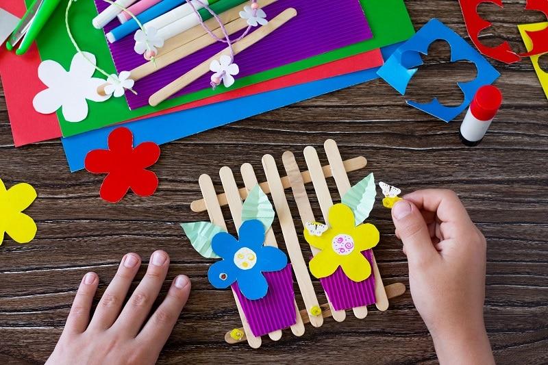 bricolage enfant fleur