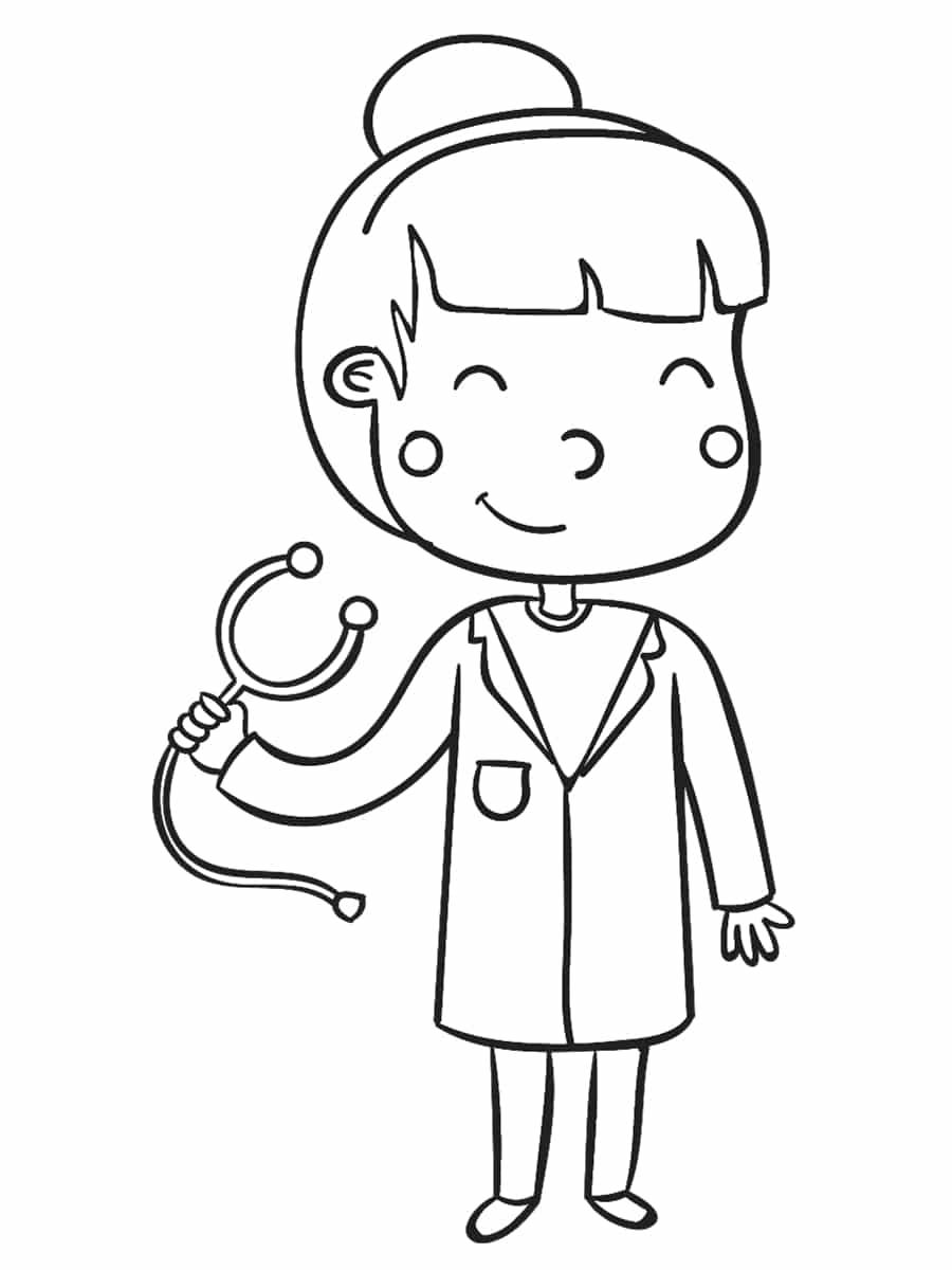 Coloriage Docteur Medecin Infirmier Infirmiere 40 Dessins