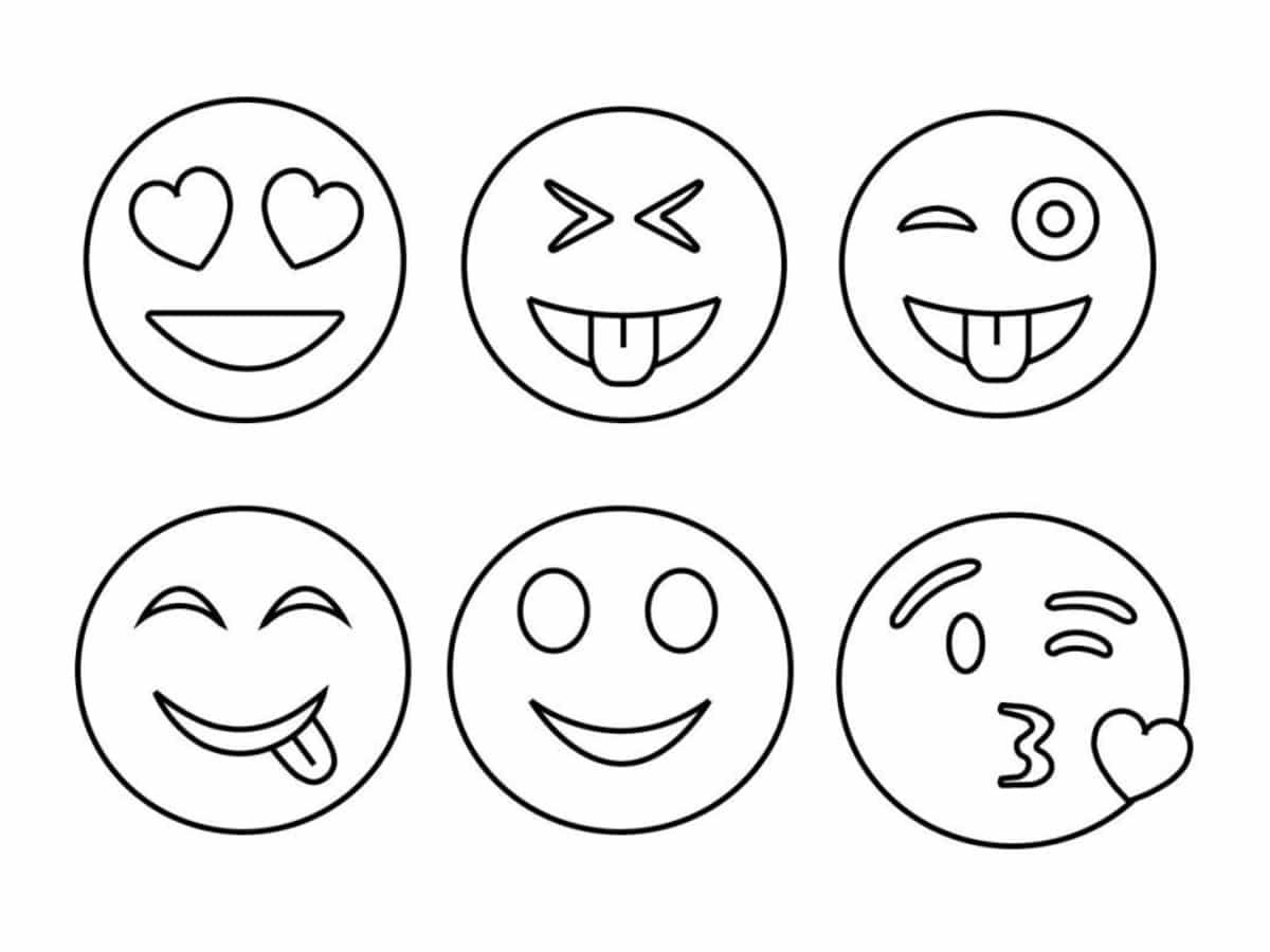 Coloriage emoji  32 dessins à imprimer gratuitement