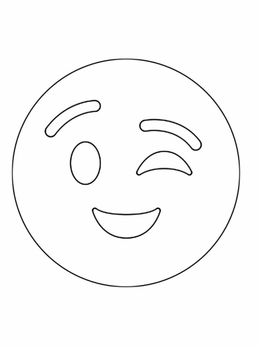 Coloriage emoji : 30 dessins à imprimer gratuitement