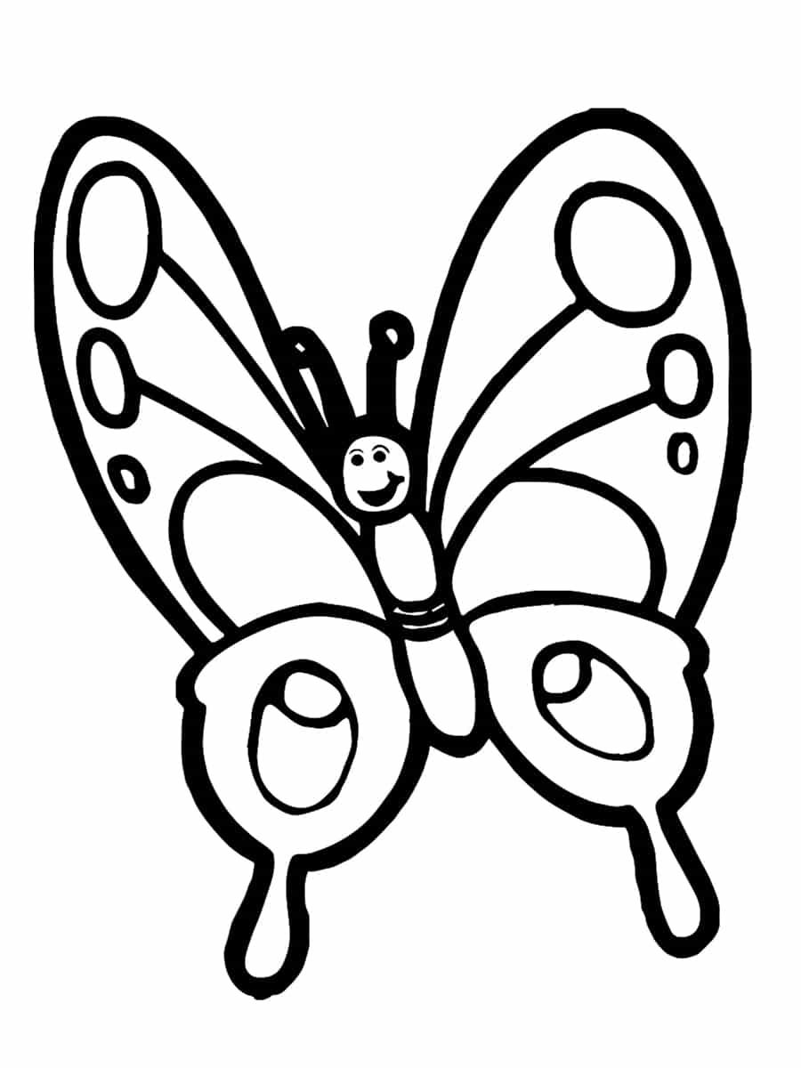 coloriage papillon facile