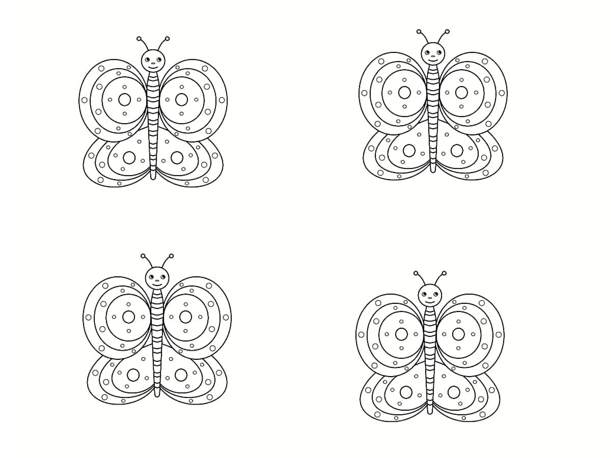 coloriages papillon
