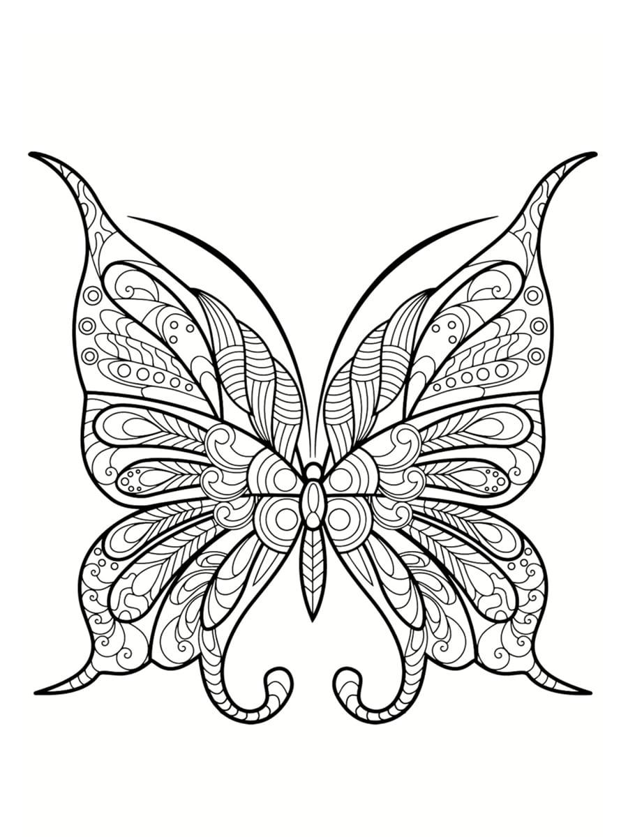 coloriage papillon adulte