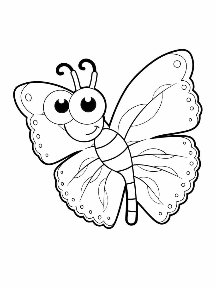 papillon coloriage