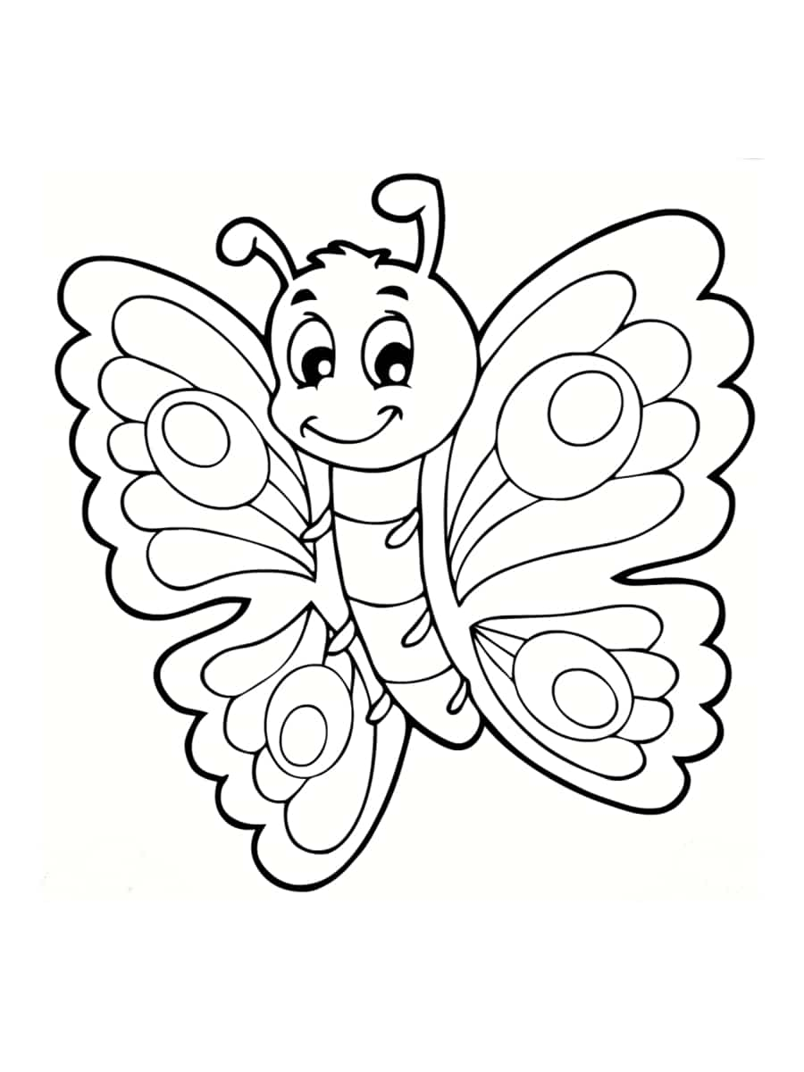 Coloriage papillon : 40 dessins à imprimer gratuitement