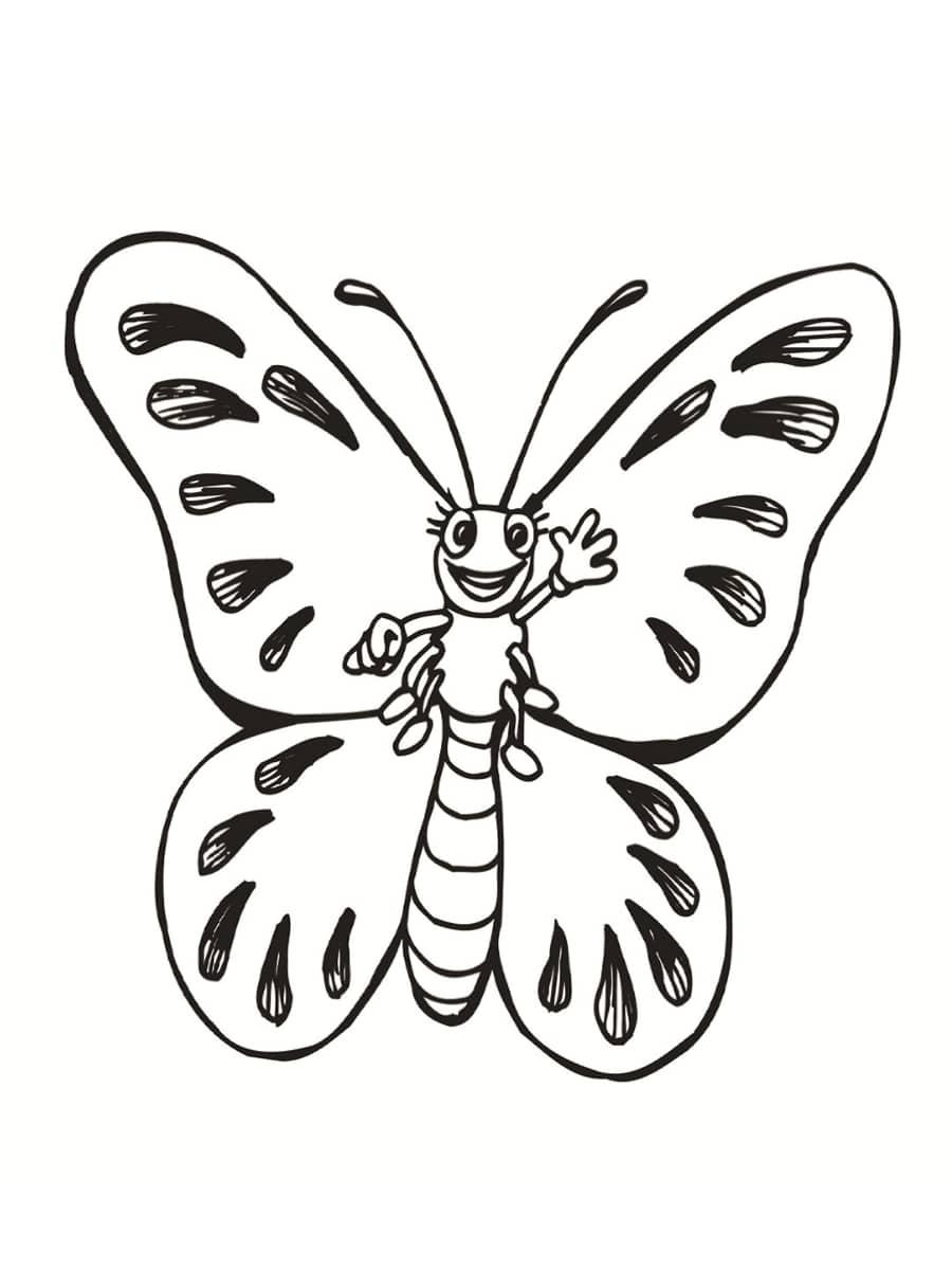 un papillon à colorier