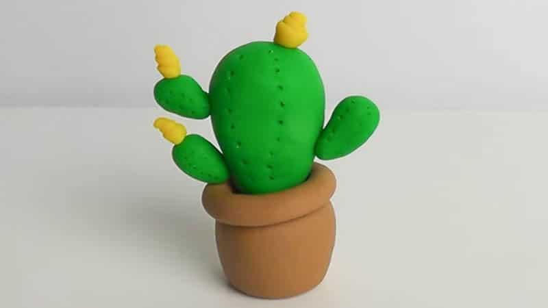 cactus en pâte à modeler